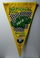 """British camping club National Feast of Lanterns 1970 Mallory Park pennant 12"""""""