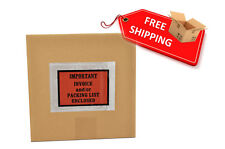 "1000 Per Case 4.5"" x 5.5"" Packing List / Invoice Enclosed Envelopes Full Face"