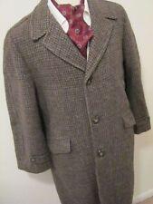 Tweed Collared Regular Size Overcoat for Men