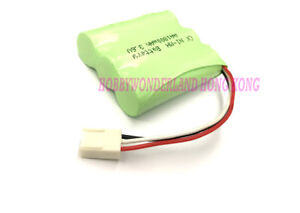 3.6v Ni-MH AA 1800mAh 3-Cell Home Phone Rechargeable Battery Pack 2510 connector