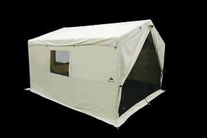 6 Person 12x10 Wall Tent North Fork Outfitter w/ LED Light Strings & Stove Jack