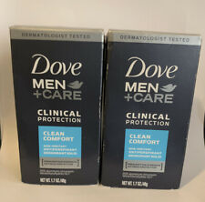 2 Pack Dove Clinical Protection CLEAN COMFORT Antiperspirant + Deodorant 1.7 oz
