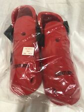 New Century Martial Arts Sparring Boots Red Size 13/14 Karate Tae Kwon Do