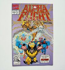 "ALPHA FLIGHT SPECIAL NO.1 VOL.2 JUNE,1992 VF MARVEL HUGE COMIC AUCTION ""LOOK"""