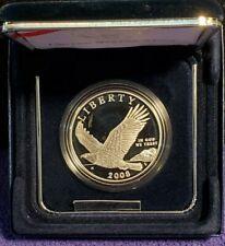 2008-P USA BALD EAGLE COMMEMORATIVE PROOF 90% SILVER DOLLAR COIN