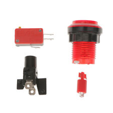 Illuminated Arcade Video Game 12V Push Button Switch 32mm Red Replacemnts
