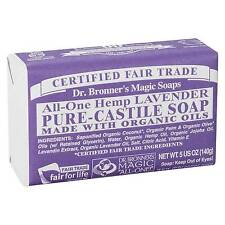 Dr Bronner Castile Bar Soap Organic Fair Essential Oil 140g 5 Oz Lavender