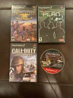 PS2 Socom,Call Of Duty,Th3 Plan W/ Manuals & Call Of Duty 2 Disc Only. 4 Games