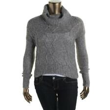 OhMG! Womens JUNIORS New Knit Cowl Turtleneck Pullover Sweater S Small 3 5 Gray
