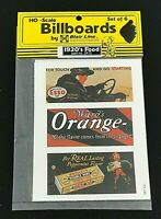 Blair Line 2410 HO Scale Billboard Signs 1920's Food Set of 6 NEW SEALED NOS