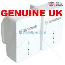 Technomate 600 Mbps AV2 Home Plug Power Line Adapter Starter Kit (Pack of 2) (co