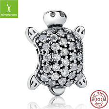 Authentic Sea Turtle Animal Charm Fit 925 Sterling Christmas Fine Chain,Bracelet