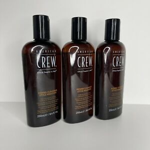 3 American Crew Power Cleanser Style Remover Shampoo 8.4 oz Men