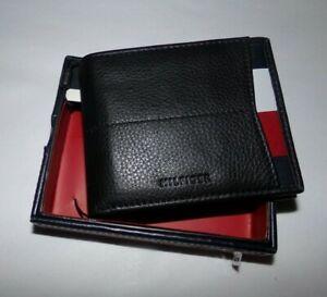 NIB MENS Tommy Hilfiger BI-Fold Wallet / Card Holder~BLACK