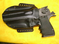 HOLSTER BLACK CARBON KYDEX DESERT EAGLE 357 44 MAG 50 AE CAR MOUNTABLE