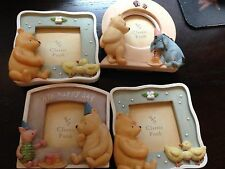 NEW LOT OF 4 DISNEY MICHEL & CO. CLASSIC WINNIE THE POOH FRAMES & FREE SHIPPING