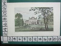 1830 Datierter Antik Yorkshire Aufdruck ~ Rokeby Flur