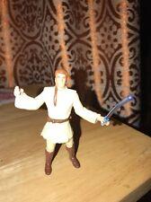 Hasbro Star Wars Talking Obi-Wan Kenobi Action Figure Jedi Duel Lightsaber (1)@