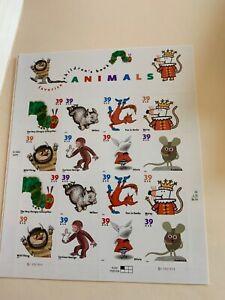 Scott 3987-3994 39¢ Favorite Children's Book Animals MNH