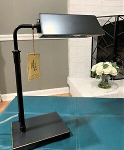 RALPH LAUREN Banker's Desk Table Lamp Black Bronze Adjustable A Home Office Must