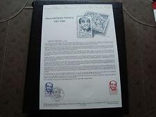 FRANCE - document officiel 1er jour 16/12/1983 (pierre mendes france) french