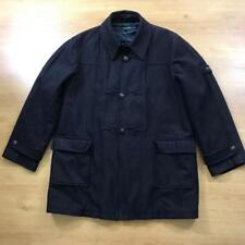 Hope And Glory Size 3 / L Dark Blue Navy Wool Blend Overcoat Duffle Coat Terrace