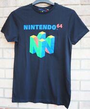 Nintendo 64 T Shirt 100% Cotton Black Super Retro Gaming Mens Black Top Uk M
