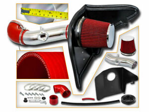 RED Air Intake Induction Kit + Heat Shield For 10-11 Camaro 3.6L V6 LS LT