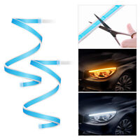 2X60cm Slim Sequential LED Strip Indicator Turn Signal DRL Daytime Running Light