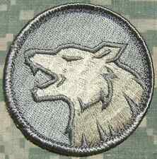 WOLF HEAD FIERCE DOG K9 TACTICAL MILITARY ACU LIGHT VELCRO® BRAND FASTENER PATCH