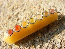 Yellow jasper 7 chakra wand healing pendant,mystic,