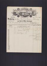 DUISBURG, Rechnung 1893, Carl & Wilh. Carstanjen Tabak-Zigarren-Fabriken