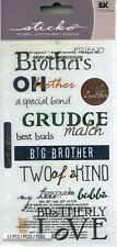 FAMILY BROTHER Brothers Big Little Bubba Best Buds Grudge Love Sticko Stickers