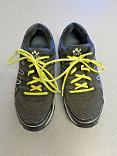 "abeo ""AERO ""Axton"" black and yellow nylon hiking shoes. Men's 10.5"