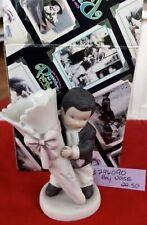 Kim Anderson Enesco Pretty as Picture 296090 Boy Holding Bud Vase figurine New