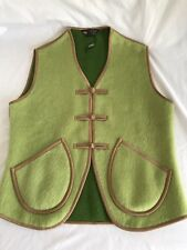 Gobi Camel Cashmere Green Vest M