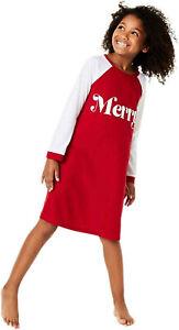 MACY'S Family Pajamas Big Kids' Merry Pajama Sleep Shirt sz XS X-Small (4-5)