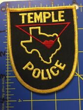 Temple Police Shoulder Patch Texas TX Deep in the Heart of Cops Heat Fuzz Blue