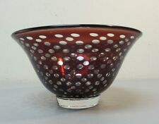 "MID-CENTURY ORREFORS SWEDEN EDWARD HALD GRAAL INTERNALLY DECORATED 7"" BOWL"
