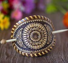 Beautiful Hair Pin * Birch Bark * Women Barrette * handmade in Russia