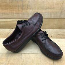SAS Mens Oxford Shoes Brown Moc Toe Lace Up 11 M