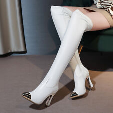 New Womens Fashion Sexy Pointed Toes High Heels Over The Knee Boots Outdoor Supe