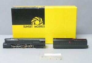 Sunset Models HO163P Brass HO Scale PRR 4-4-4-4 T-1 Steam w/ Portholes EX/Box