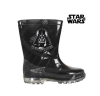 Kids Star Wars Wellington Boots Toddler Light Up Waterproof Welly Shoe Infant SW
