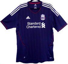 "EX! Liverpool FC 2011/2012 Away Shirt Black L Large 42"" - 44"" Trikot Camiseta"