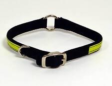 "NEW Saf-T-Paw Black Nylon Reflective Adjustable Dog Collar Small 12-14"" Neck"