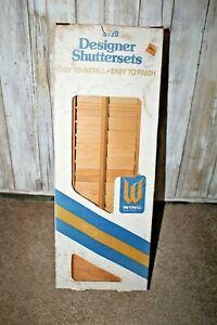Vintage 1987 Wing Industries Wooden Designer shutters NIB 0720