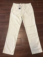 Ballin Mens Pants Ivory White Mansfield Relaxed Fit Career - Size W35