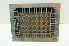 """GREAT VINTAGE Floor REGISTER IRON 13 3/4""""x10 3/4""""+ LOUVERS Grate HEAT GRILLE."""