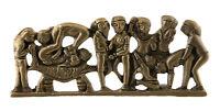 Statuetta Basso Epossidico Abbellimento Erotico Kamasutra IN Ottone India